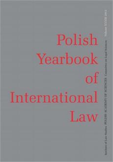 2013 Polish Yearbook of International Law vol. XXXIII