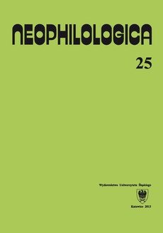 Neophilologica. Vol. 25: Études sémantico-syntaxiques des langues romanes - 07 Occhio alla salute — le riflessioni linguistiche sul concetto di salute nella lingua italiana