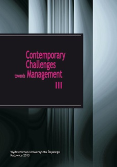 Contemporary Challenges towards Management III - 06 Behavioural norms as an element supporting creativity and innovation in small and medium-sized enterprises