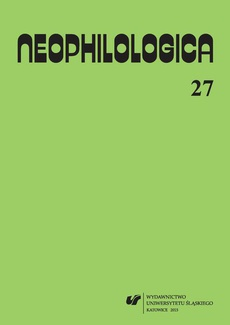 """""""Neophilologica"""" 2015. Vol. 27: La perception en langue et en discours - 08 Désambiguisation lexicale du verbe français produire"""