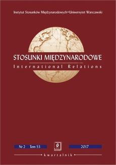 Stosunki Międzynarodowe nr 2(53)/2017 - Agata Wiktoria Ziętek: Enrico Fels, Shifting Power in Asia-Pacific? The Rise of China, Sino-US Competition and Regional Middle Power Allegiance