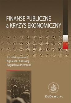 Finanse publiczne a kryzys ekonomiczny