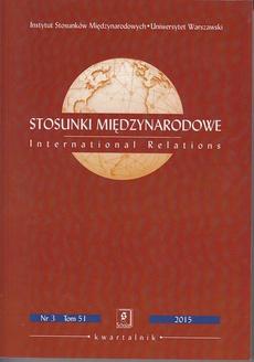 """Stosunki Międzynarodowe nr 3(51)/2015 - Patrycja Grzebyk: Miejsce interwencji zbrojnej w koncepcji """"odpowiedzialność za ochronę"""" (R2P)"""