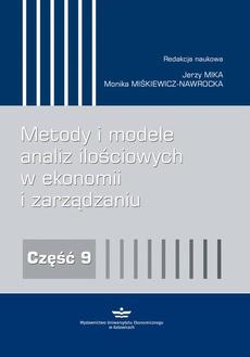 Metody i modele analiz ilościowych w ekonomii i zarządzaniu