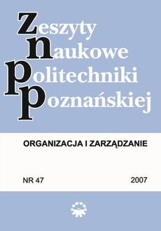 Organizacja i Zarządzanie, 2007/47