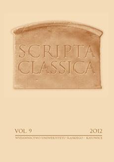 Scripta Classica. Vol. 9