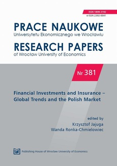 Financial Investments and Insurance – Global Trends and the Polish Market. PN 381
