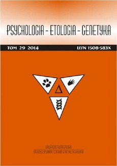 Psychologia-Etologia-Genetyka nr 29/2014 - Regulacyjna teoria temperamentu: profile cech temperamentu pacjentów z chorobą afektywną dwubiegunową i uzależnionych od alkoholu