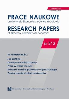 Prace Naukowe Uniwersytetu Ekonomicznego we Wrocławiu nr. 512. Job crafting.