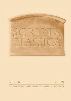 Scripta Classica. Vol. 6 - 08 De providentia in orbe terrarum malis adflicto a Seneca Philosopho depincta
