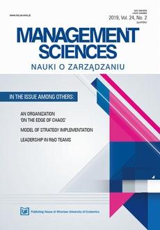 Nauki o Zarządzaniu. Management Sciences 2019 2(24)