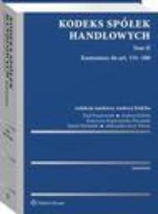 Kodeks spółek handlowych. Komentarz. Tom II