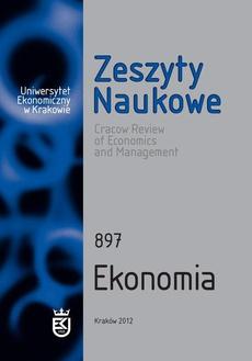Zeszyty Naukowe Uniwersytetu Ekonomicznego w Krakowie, nr 897. Ekonomia