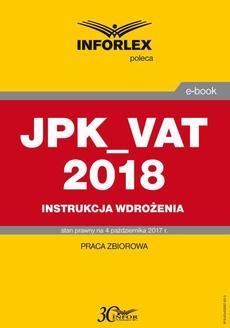 JPK_VAT 2018 Instrukcja wdrożenia