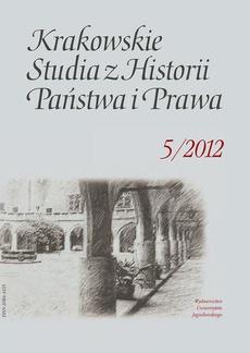 Krakowskie Studia z Historii Państwa i Prawa. Tom 5
