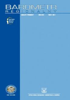 Barometr Regionalny. Analizy i Prognozy. T. 11, nr 1
