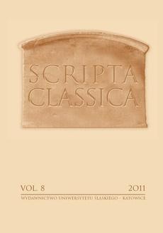 Scripta Classica. Vol. 8 - 09 Manilius II 150—269. Zodiak w ujęciu Maniliusza