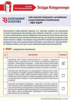 Ściąga Księgowego - Lista czynności związanych z prawidłowym przeprowadzeniem inwentaryzacji – TRZY ETAPY