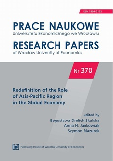 Redefinition of the Role of Asia-Pacific Region in the Global Economy. PN 370