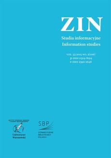 Zagadnienia Informacji Naukowej Vol. 53 2015 no. 2(106)