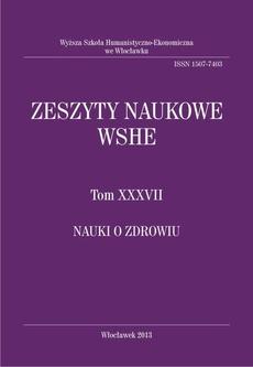 Zeszyty Naukowe WSHE, t. XXXVII, Nauki o Zdrowiu