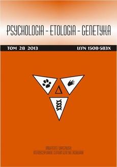 Psychologia-Etologia-Genetyka nr 28/2013 - Urszula Barańczuk, Bogdan Zawadzki: Temperament, poznawcza regulacja stanów afektywnych oraz poziom nastroju w zaburzeniu stresowym pourazowym