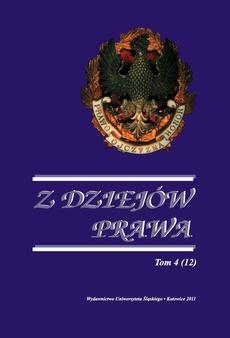 Z Dziejów Prawa. T. 4 (12) - 03 O karze pozbawienia wolności w orzecznictwie krakowskiego sądu grodzkiego w XVIII wieku uwag kilka