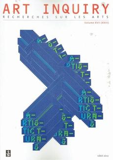 Art Inquiry. Recherches sur les arts t. XVII (XXVI)