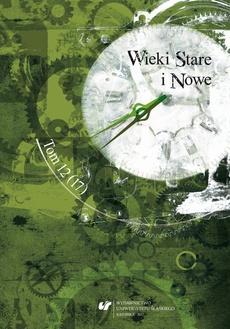 """""""Wieki Stare i Nowe"""". T. 12 (17) - 15 rec_ Maciej Fic"""