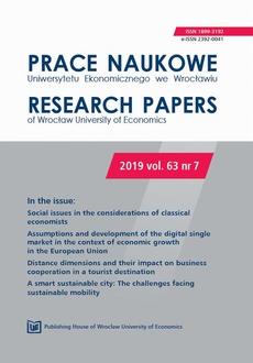 Prace Naukowe Uniwersytetu Ekonomicznego we Wrocławiu 63/7. Social issues in the considerations of classical economists