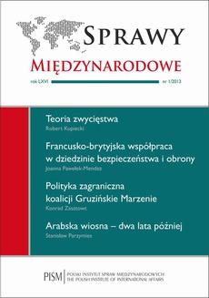 Sprawy Międzynarodowe 1/2013