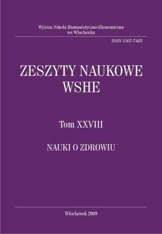 Zeszyty Naukowe WSHE, t. XXVIII, Nauki o Zdrowiu
