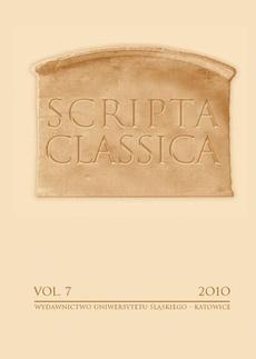 """Scripta Classica. Vol. 7 - 01 """"Nosce te ipsum"""". W 40-lecie pracy dydaktycznej i naukowej Profesora Józefa Sieronia"""