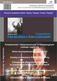 Czasopismo Ekonomia i Zarządzanie nr 1 sty/2013