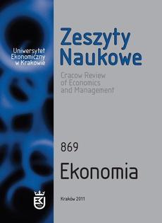 Zeszyty Naukowe Uniwersytetu Ekonomicznego w Krakowie, nr 869. Ekonomia