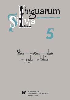 Linguarum Silva. T. 5 - 02 Historia semantyki wyrazu rzecz i jego derywatów słowotwórczych