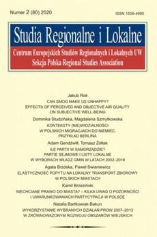 Studia Regionalne i Lokalne nr 2(80)/2020