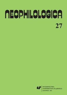 """""""Neophilologica"""" 2015. Vol. 27: La perception en langue et en discours - 01 De la perception du mouvement dans le sémantisme du verbe tomber et de ses correspondants polonais"""
