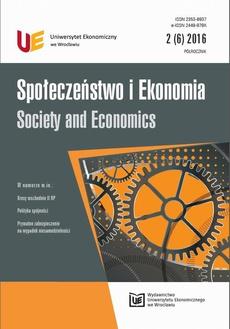 Społeczeństwo i Ekonomia 2(6) 2016
