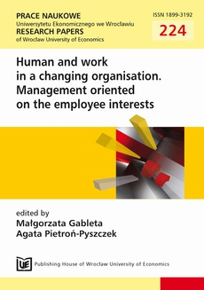 Human and work in a changing organisation.Management oriented on the employee interests
