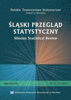 Śląski Przegląd Statystyczny 11(17) 2013