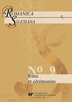 """""""Romanica Silesiana"""" 2014, No 9: Rites et cérémonies - 02 Le rite (a)religieux dans """"La chaise au fond de l'oeil"""" d'Aude"""
