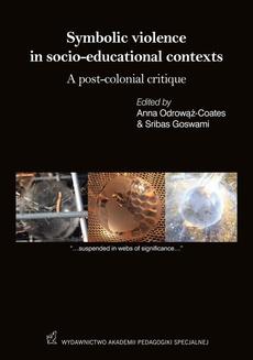 Symbolic violence in socio-educational contexts A post-colonial critique