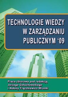 Technologie wiedzy w zarządzaniu publicznym '09