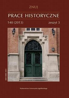 Prace Historyczne, 140 (3) 2013