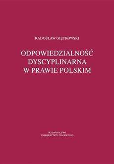 Odpowiedzialność dyscyplinarna w prawie polskim
