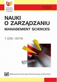 Nauki o Zarządzaniu 1(26)