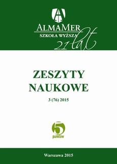 Zeszyty Naukowe ALMAMER 2015 3(76) - Kształcenie podyplomowe pielęgniarek i położnych – wpływ na bilans szpitala | POST-GRADUATE TEACHING NURSES AND MIDWIVES – IMPACT ON HOSPITAL BALANCE