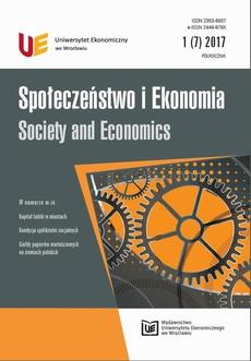Społeczeństwo i Ekonomia 1(7) 2017
