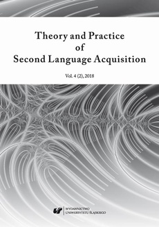 """Theory and Practice of Second Language Acquisition"" 2018. Vol. 4 (2)"